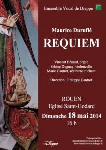Affiche Duruflé Rouen