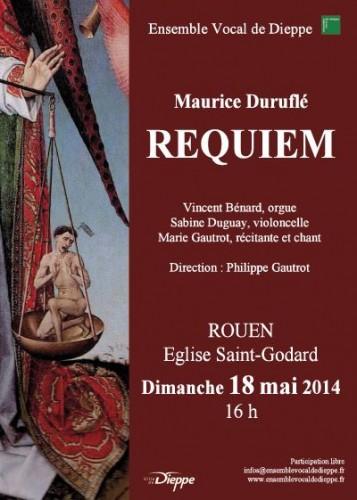 Requiem de Duruflé à Rouen – 18 mai 2014