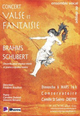 Concert Brahms – Schubert à Dieppe – 6 mars 2016