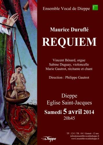 Requiem de Duruflé à Dieppe – 5 avril 2014