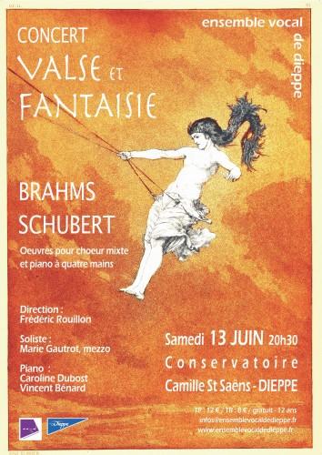 Concert Brahms – Schubert à Dieppe – 13 juin 2015